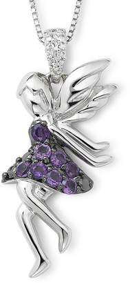 FINE JEWELRY Sterling Silver Amethyst & Diamond-Accent Fairy Pendant v