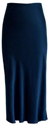 Lily Ashwell Gia Slip Skirt - Navy Silk