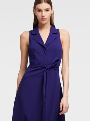 DKNY Sleeveless Midi Shirt Dress