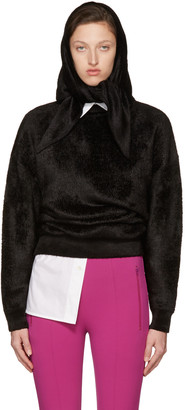 Balenciaga Black Headscarf Crewneck Sweater $1,395 thestylecure.com