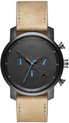 MVMT Chronograph Leather Strap Watch, 40mm