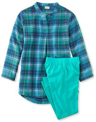 L.L. Bean L.L.Bean Girls' Flannel Sleepwear Set