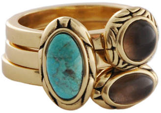 Artsmith BY BARSE Art Smith by BARSE Turquoise & Smoky Quartz Stack Ring