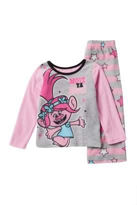 Möve AME Trolls Poppy Ya Body Fleece Pajama Set (Little Girls & Big Girls)