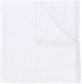 Eleventy fringed-hem scarf