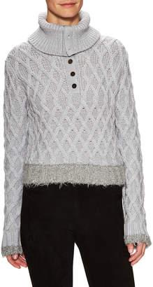 Derek Lam 10 Crosby Wool Cable Knit Turtleneck Sweater