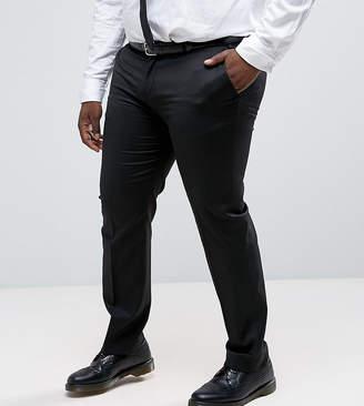 Asos Design PLUS Slim Tuxedo Suit Pants in Black