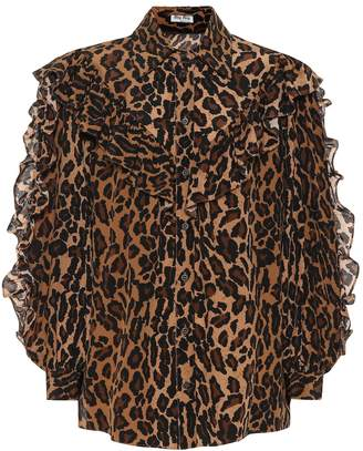 2c97c287b670 Leopard Print Silk Shirt - ShopStyle UK