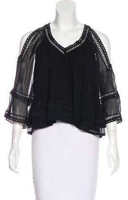 Rebecca Minkoff Semi-Sheer Long Sleeve Top w/ Tags