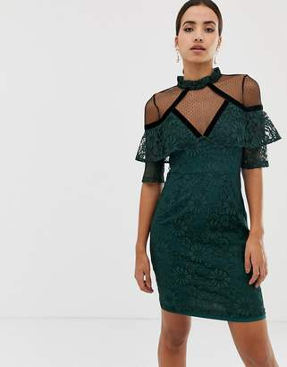 Dolly & Delicious 3/4 sleeve lace shift dress