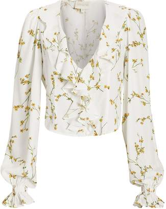 Divine Heritage Floral Ruffle Top