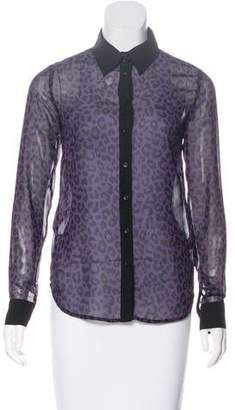Karl Lagerfeld by Printed Long Sleeve Top w/ Tags
