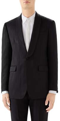 Gucci Men's Moire Shawl-Collar Tuxedo Jacket