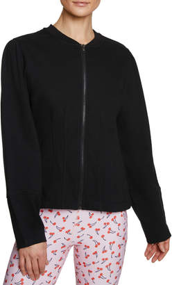 Betsey Johnson Fitted Terry Bomber Jacket