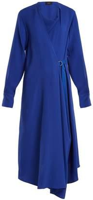 Joseph Arran waist-tie draped silk-crepe dress