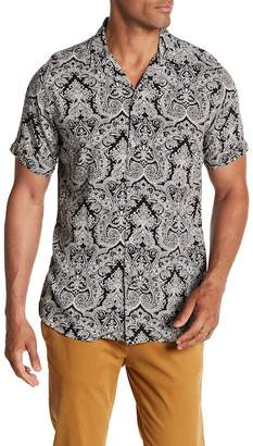Slate & Stone Modern Fit Woven Short Sleeve Button Down Shirt