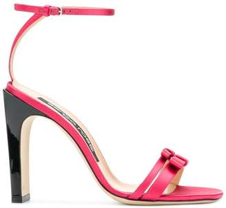 Sergio Rossi double bow strap sandals