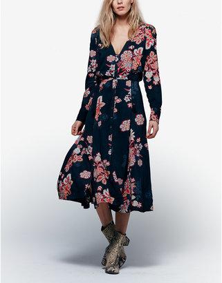 Free People Miranda Printed Midi Dress $148 thestylecure.com