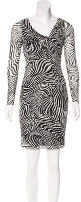 Reiss Abstract Print Bodycon Dress