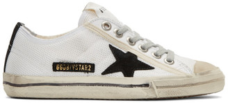 Golden Goose White V-Star 2 Sneakers $445 thestylecure.com