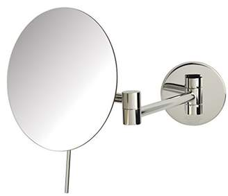 Sharper Image JRT685C 7.75-inch Slimline Wall Mount 5x Magnification Mirror