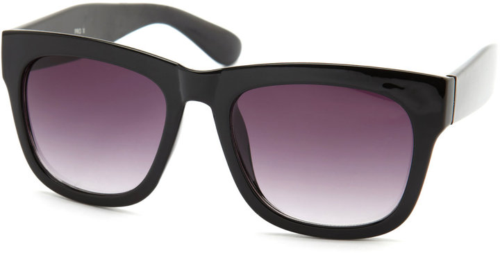 Thick Black-Framed Shades