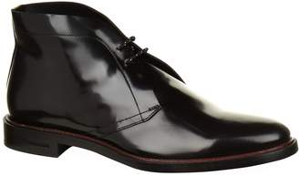 Burberry Polished Leather Desert Boots