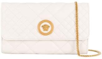 Versace quilted Medusa clutch bag