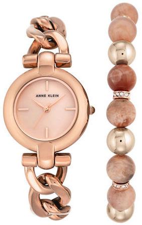Anne KleinAnne Klein Watch & Sunstone Bracelet- Set of 2