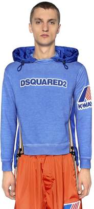 DSQUARED2 K-Way Hooded Jersey & Nylon Sweatshirt