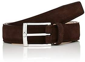 Crockett Jones Crockett & Jones Men's Suede Belt - Dk. brown