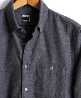 Todd Snyder Brushed Cotton Cashmere Twill Shirt in Grey