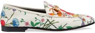 Gucci Jordaan floral print loafers