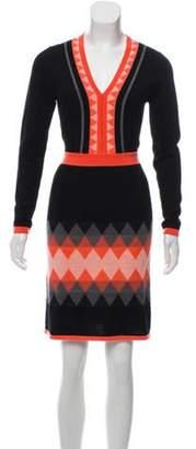 Milly Wool Sweater Dress Black Wool Sweater Dress