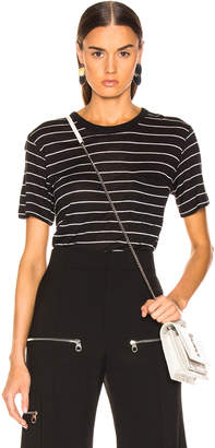 Alexander Wang Thin Striped Slub Tee in Black & Heather Grey | FWRD