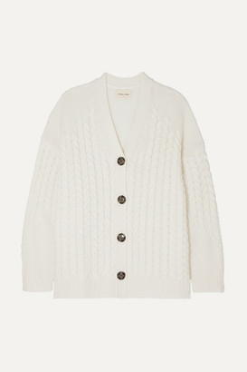 LOULOU STUDIO - Zannone Cable-knit Wool And Cashmere-blend Cardigan - Ivory