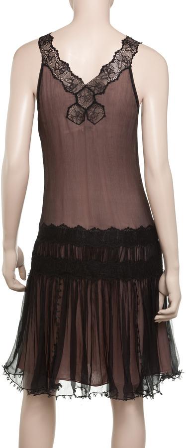Max Studio Chiffon Drop Waist Dress