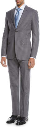 Brioni Super 150s Wool Twin-Stripe Two-Piece Suit