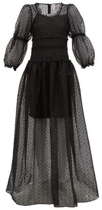 Shrimps Cara Broderie Anglaise Maxi Dress - Womens - Black