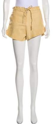 Base Range Leather Mini Shorts