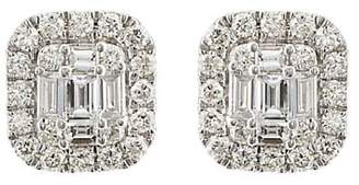 Sara Weinstock Women's Illusion Stud Earrings - White
