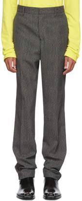 Calvin Klein Grey and Black Uniform Trousers