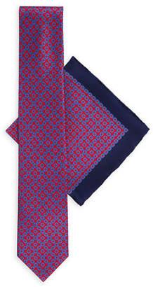 Stefano Ricci Large-Square Silk Tie & Pocket Square Set