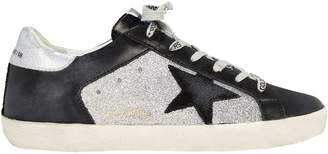 Golden Goose Superstar Black Leather Low-Top Sneakers