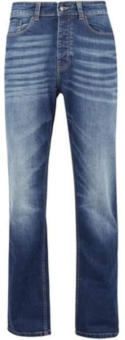 Womens **Burton Washed Blue Logan Straight Fit Jeans