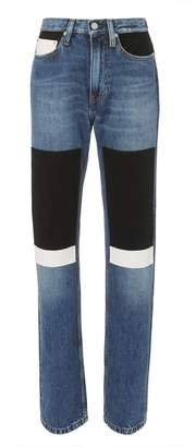 Calvin Klein Jeans High-Rise Straight Patch Jeans