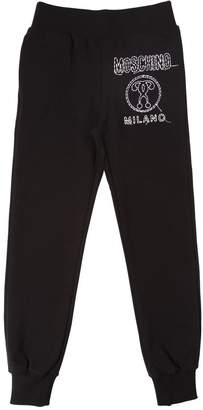 Moschino Embroidered Logo Cotton Sweatpants