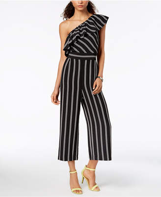 Laundry by Shelli Segal Striped One-Shoulder Jumpsuit