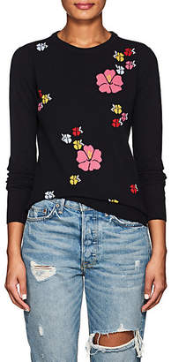 Barneys New York Women's Floral Cashmere Sweater - Navy