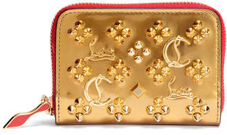 Christian Louboutin Panettone gold logo studded coin purse